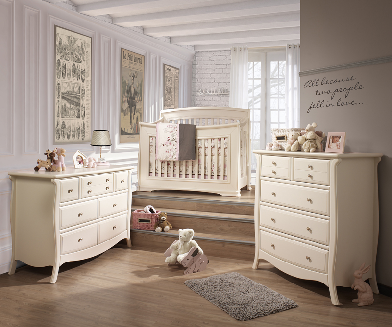 Children's and baby furniture, cribs, dresseres